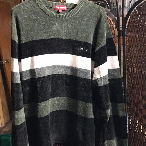 0c19d891 Supreme Sweaters | Chenille Sweater Black | Poshmark